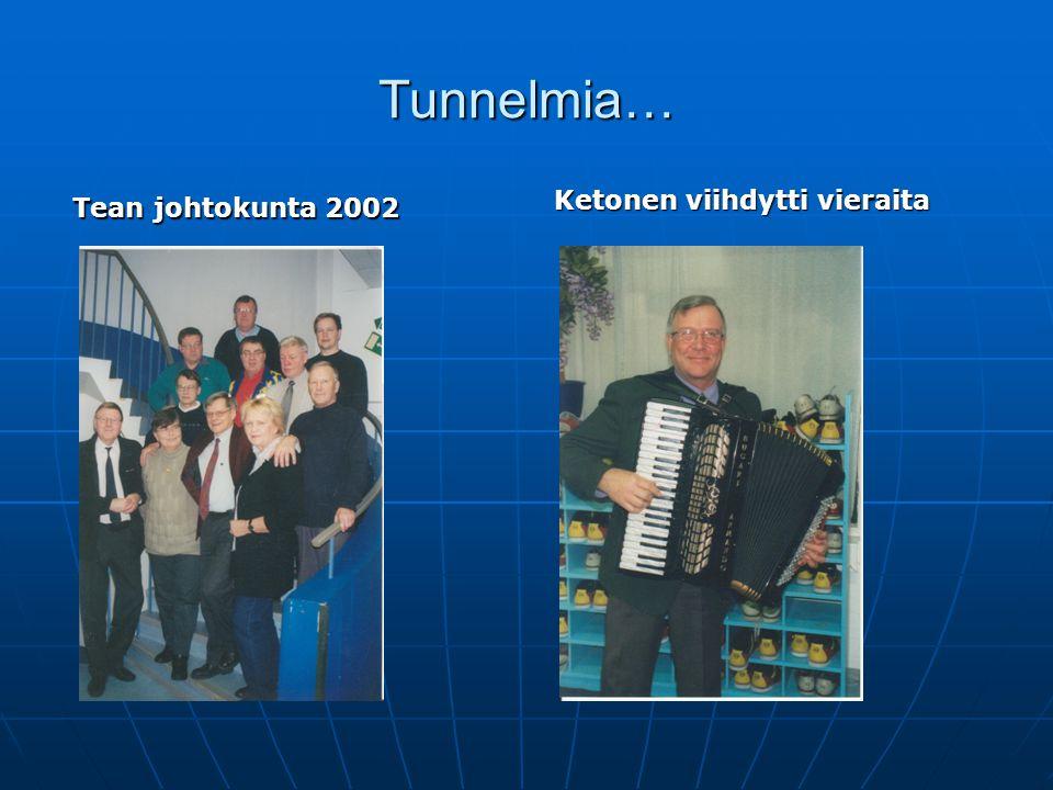 Tunnelmia… Ketonen viihdytti vieraita Tean johtokunta 2002