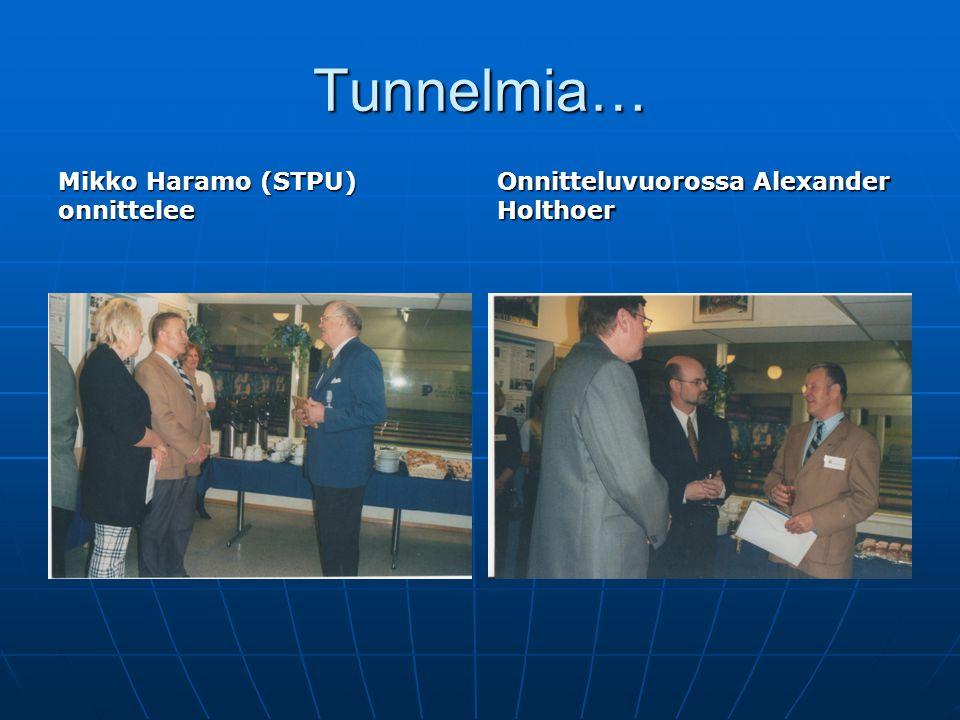 Tunnelmia… Mikko Haramo (STPU) onnittelee