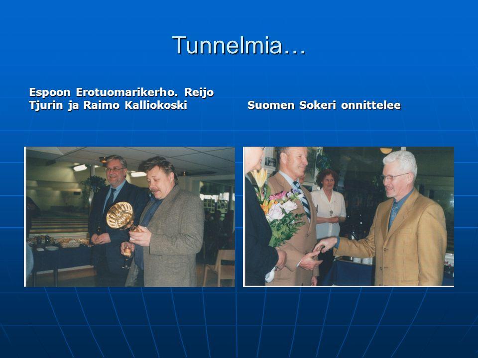Tunnelmia… Espoon Erotuomarikerho. Reijo Tjurin ja Raimo Kalliokoski
