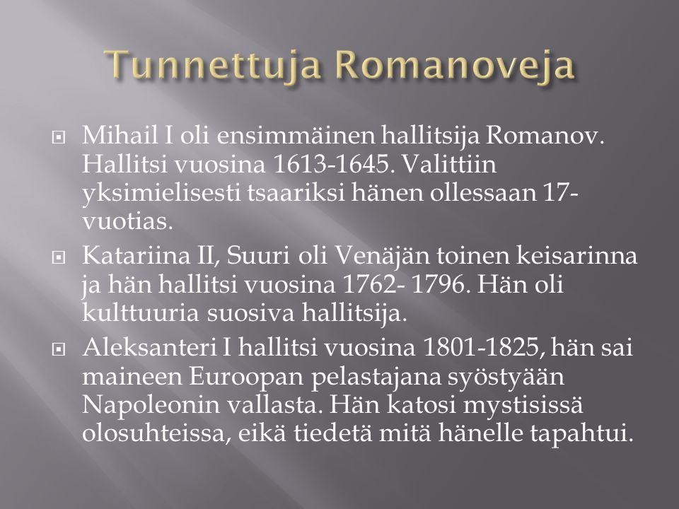 Tunnettuja Romanoveja