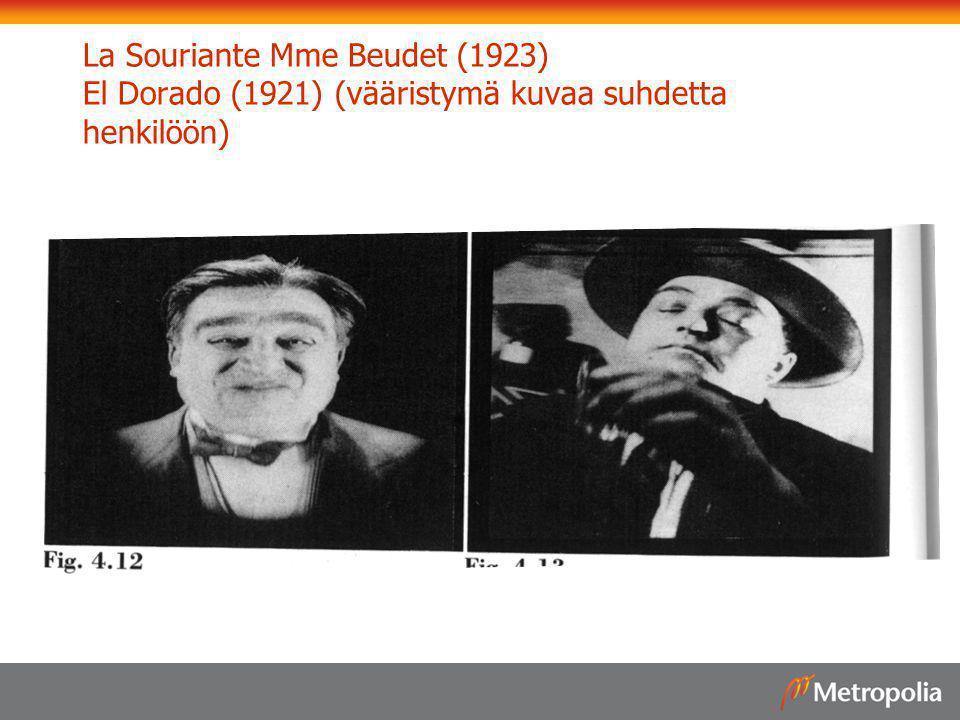 La Souriante Mme Beudet (1923) El Dorado (1921) (vääristymä kuvaa suhdetta henkilöön)