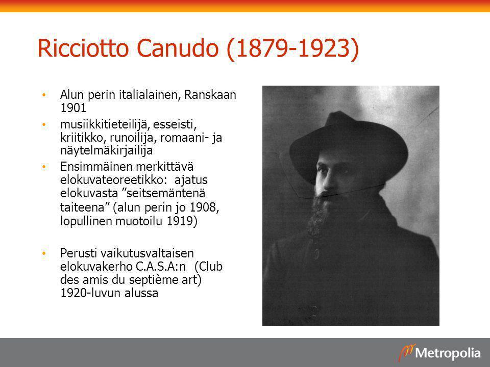 Ricciotto Canudo (1879-1923) Alun perin italialainen, Ranskaan 1901
