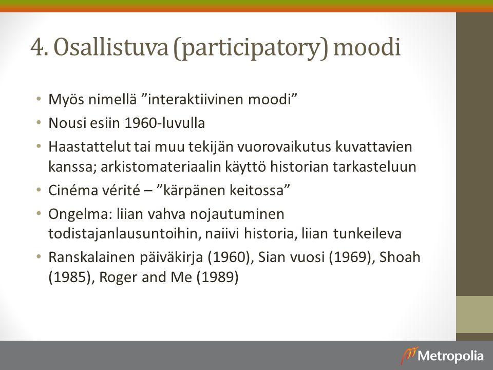 4. Osallistuva (participatory) moodi