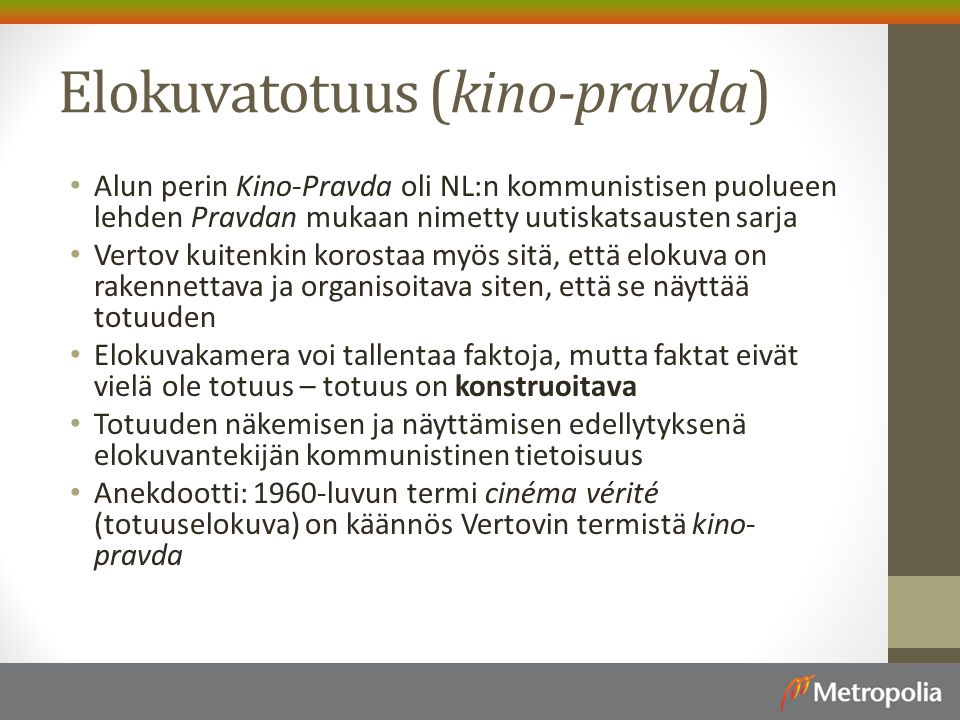 Elokuvatotuus (kino-pravda)