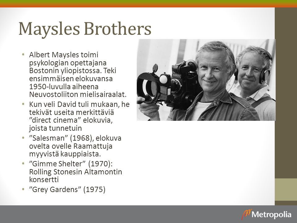 Maysles Brothers