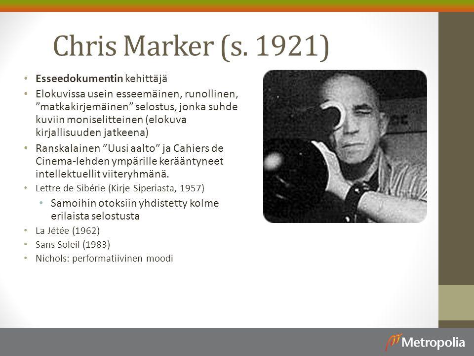 Chris Marker (s. 1921) Esseedokumentin kehittäjä