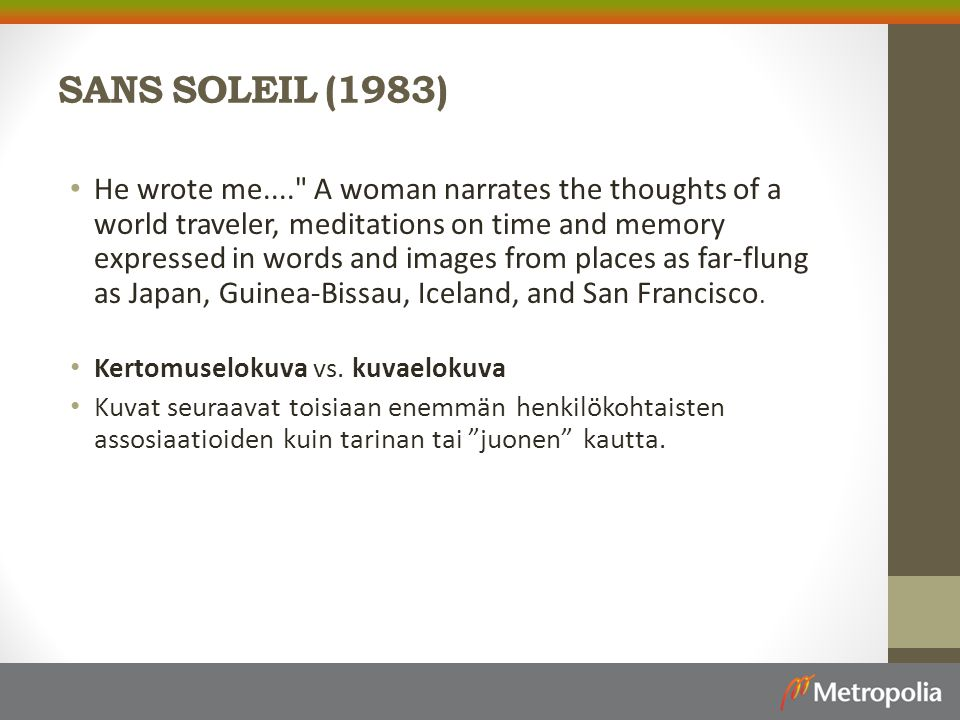 SANS SOLEIL (1983)