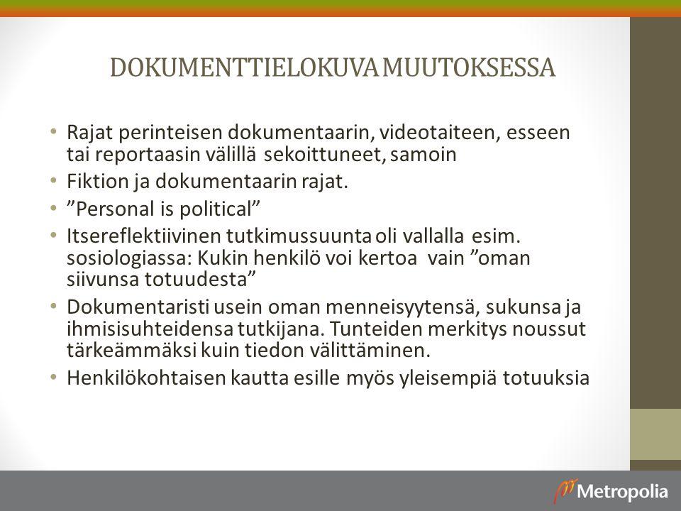 DOKUMENTTIELOKUVA MUUTOKSESSA