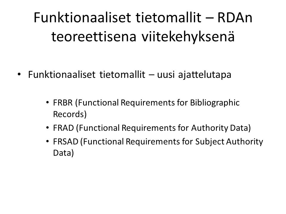 functional requirement for bibliographic records essay Oclc research activities and ifla's functional requirements for bibliographic records frbr (functional requirements for bibliographic records) is a 1998 recommendation of the international federation of library associations and institutions (ifla) to restructure catalog databases to reflect the conceptual structure of.
