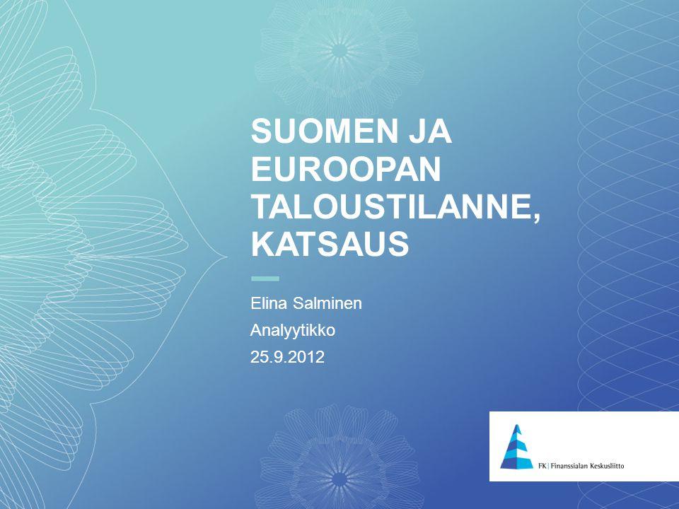 Suomen ja euroopan taloustilanne, katsaus