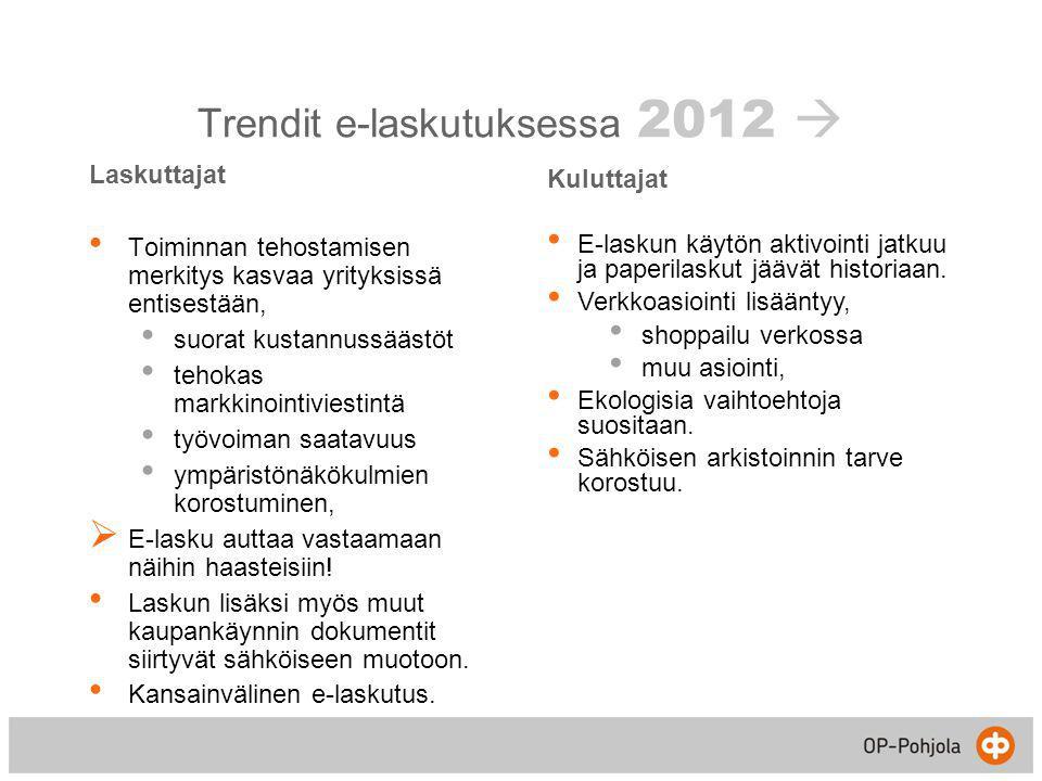 Trendit e-laskutuksessa 2012 