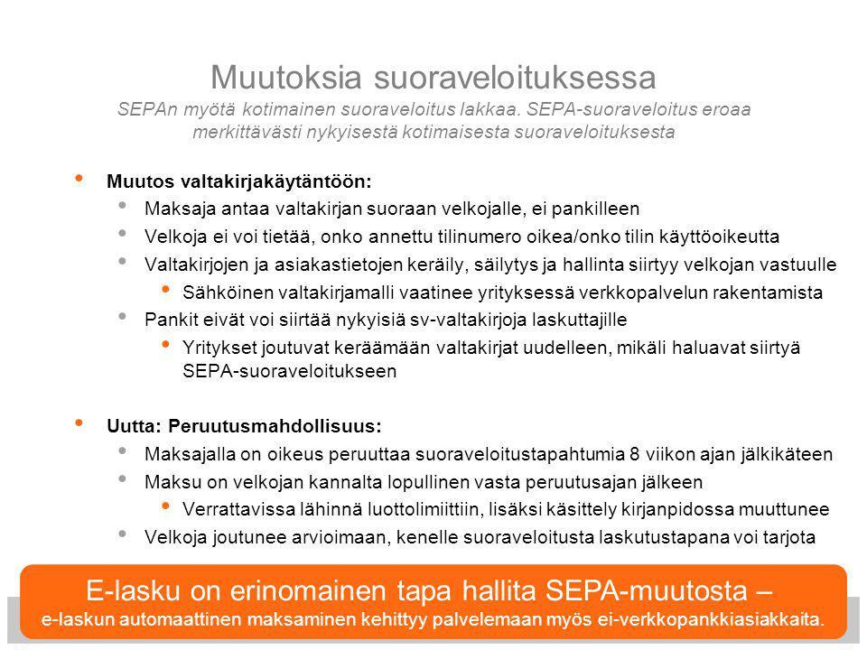 E-lasku on erinomainen tapa hallita SEPA-muutosta –