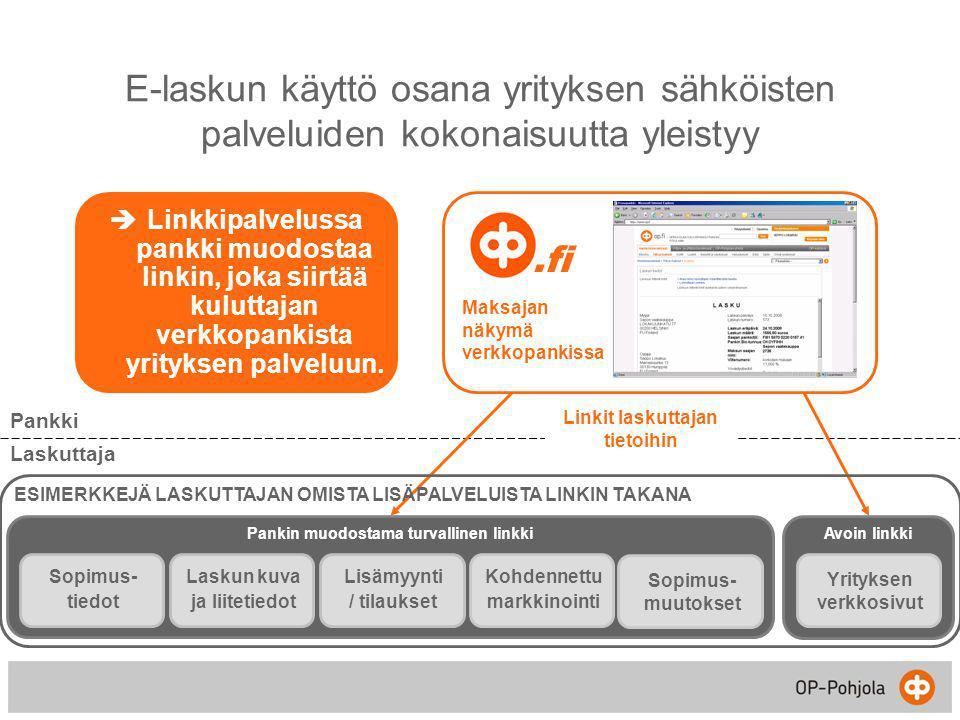E-laskun käyttö osana yrityksen sähköisten palveluiden kokonaisuutta yleistyy