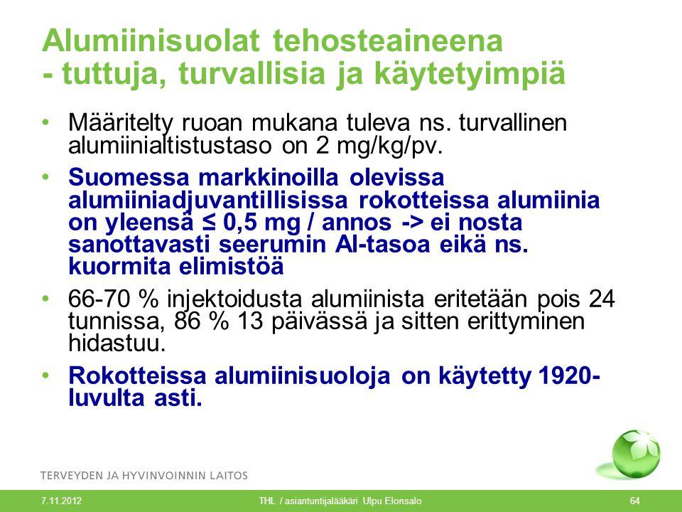 Asiantuntijalääkäri Ulpu Elonsalo THL, Rokotusohjelmayksikkö - ppt lataa