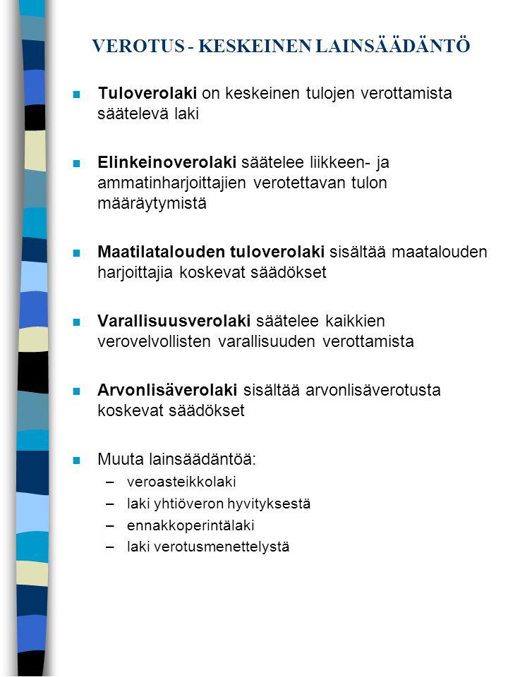 VEROTUS - KESKEINEN LAINSÄÄDÄNTÖ