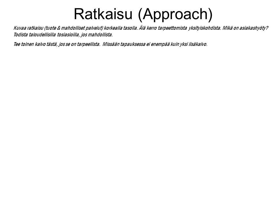 Ratkaisu (Approach)