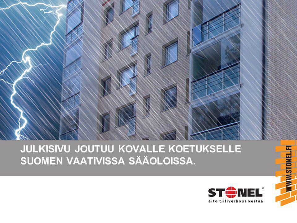 JULKISIVU JOUTUU KOVALLE KOETUKSELLE SUOMEN VAATIVISSA SÄÄOLOISSA.