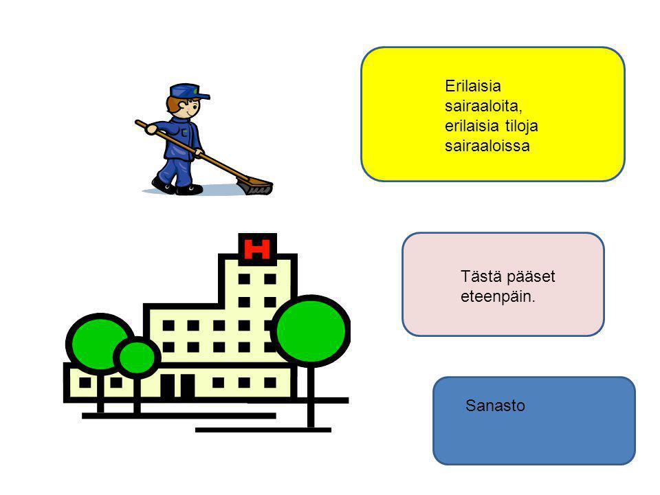 Erilaisia sairaaloita, erilaisia tiloja sairaaloissa