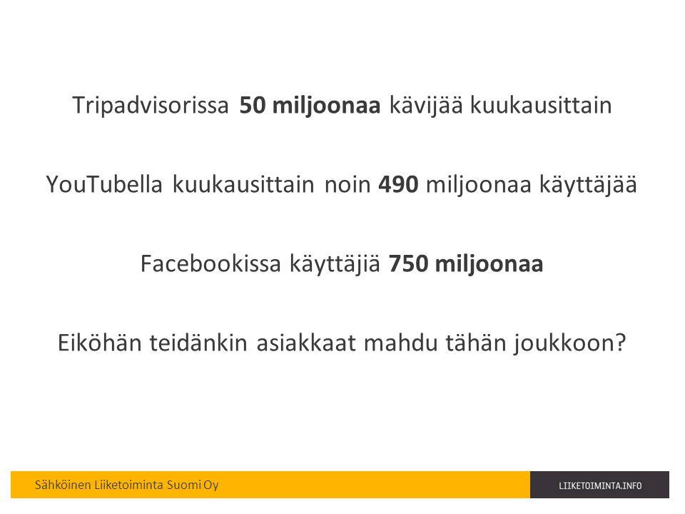 Tripadvisorissa 50 miljoonaa kävijää kuukausittain