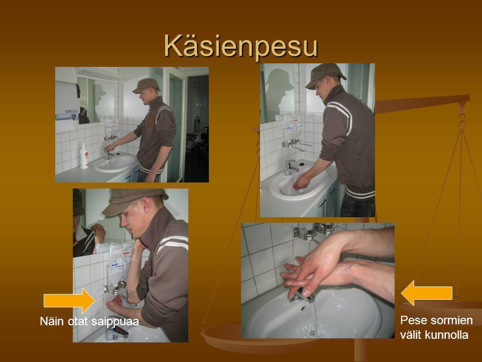 Käsienpesu Näin otat saippuaa Pese sormien välit kunnolla