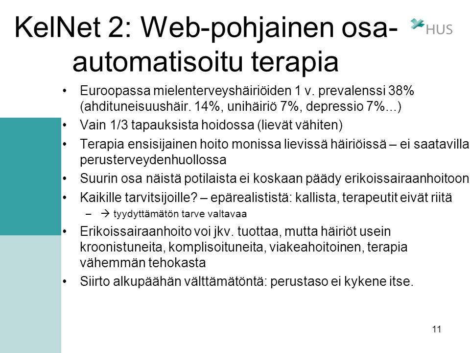KelNet 2: Web-pohjainen osa-automatisoitu terapia