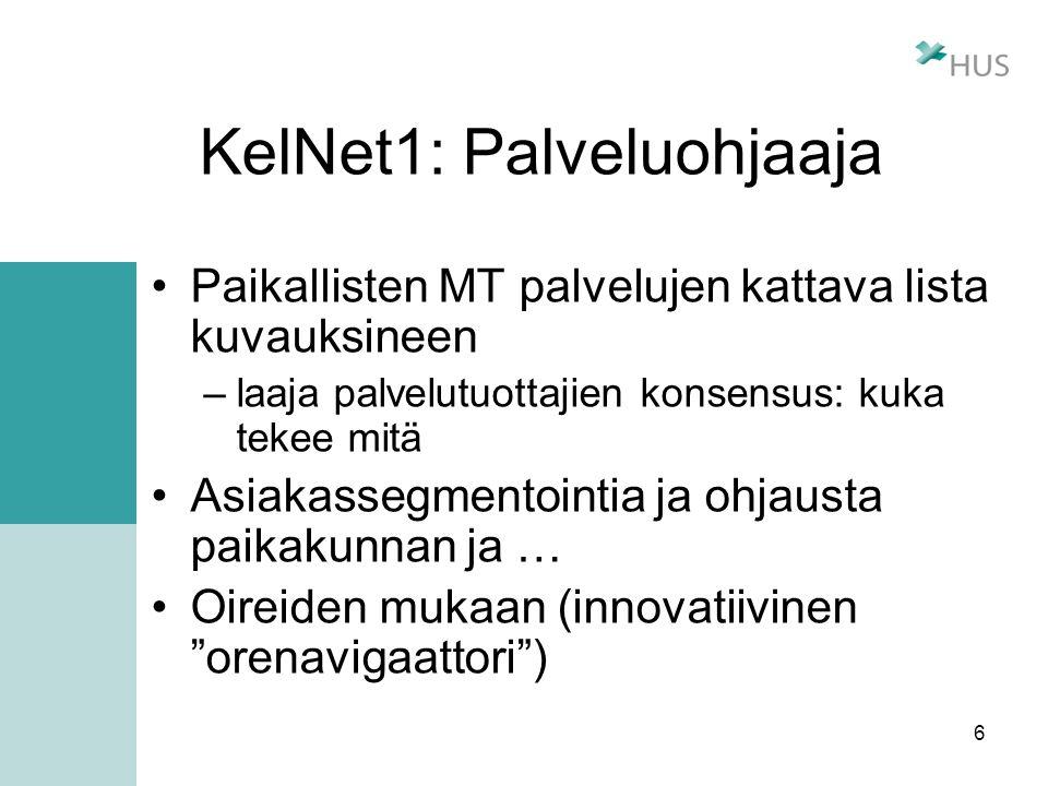 KelNet1: Palveluohjaaja