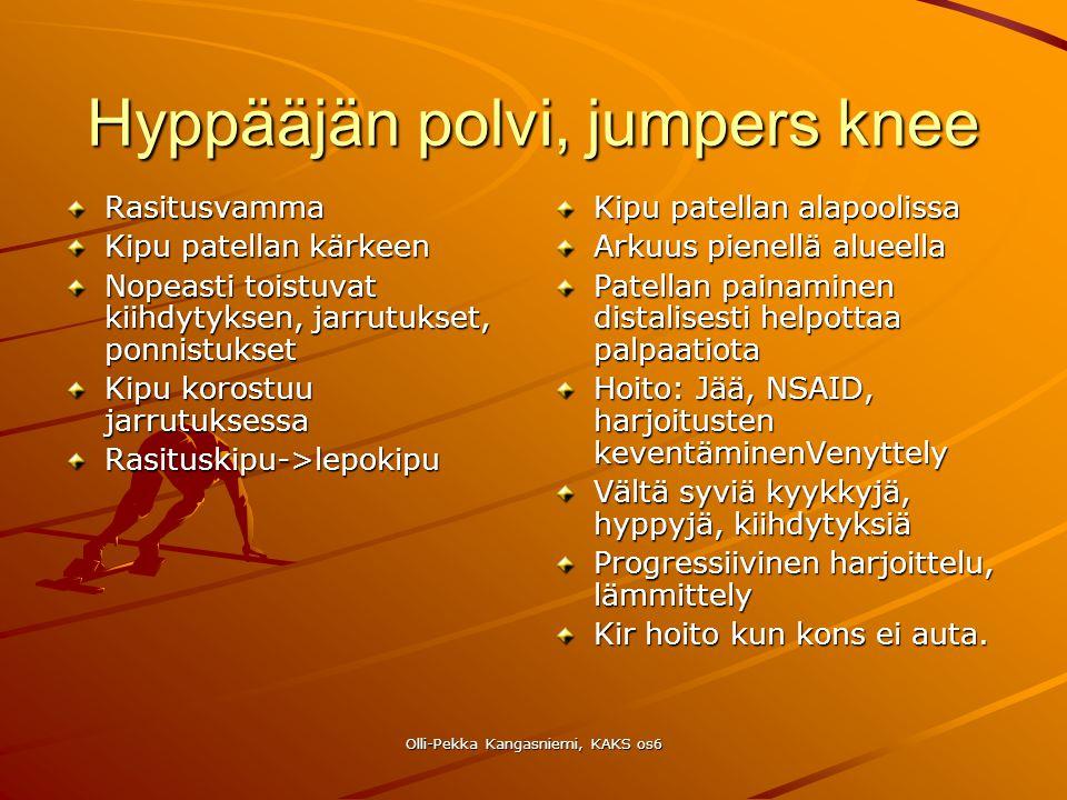 Hyppääjän polvi, jumpers knee
