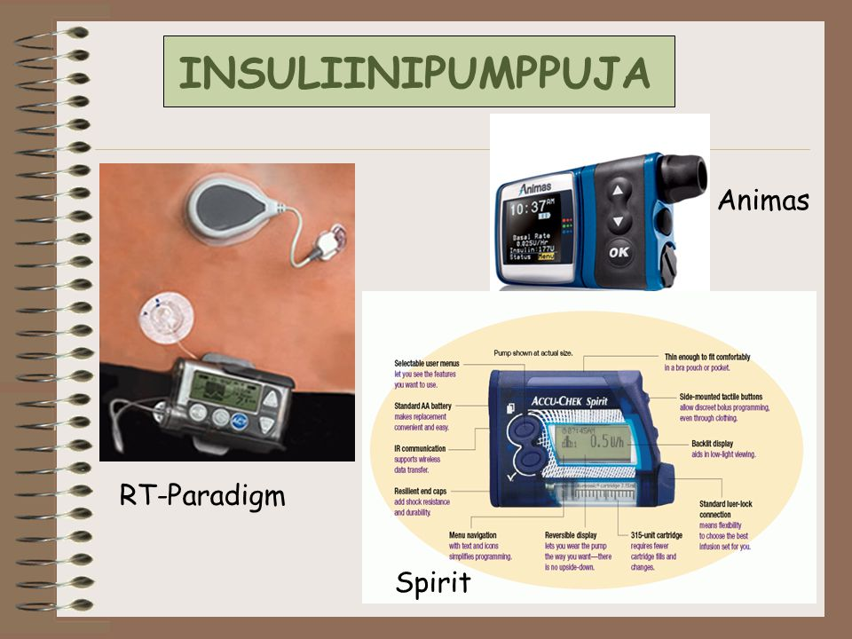 INSULIINIPUMPPUJA Animas RT-Paradigm Spirit