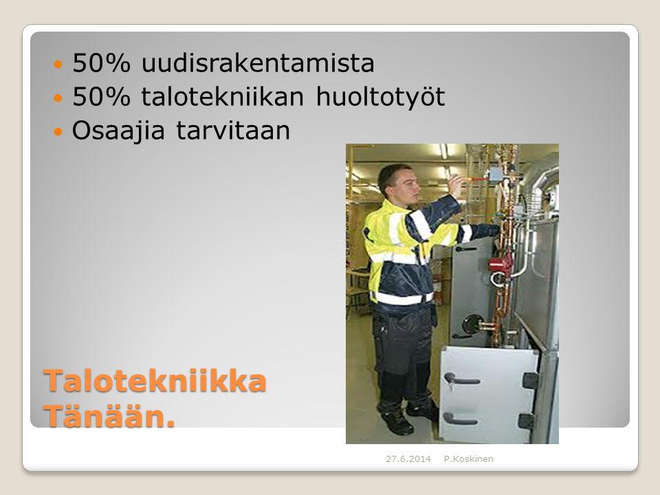 Talotekniikka Tänään. 50% uudisrakentamista