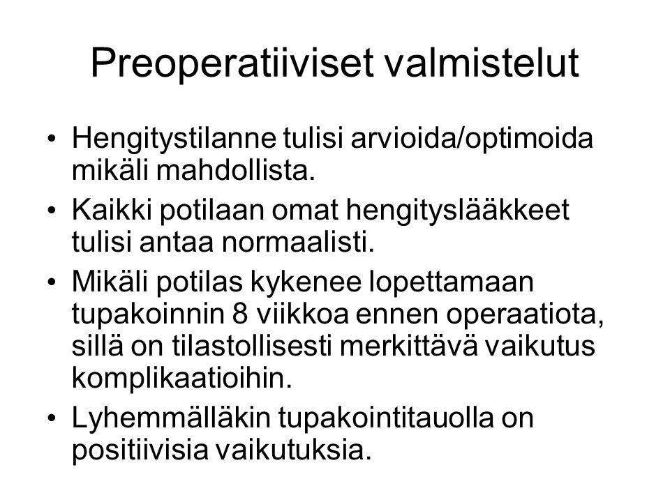 Preoperatiiviset valmistelut