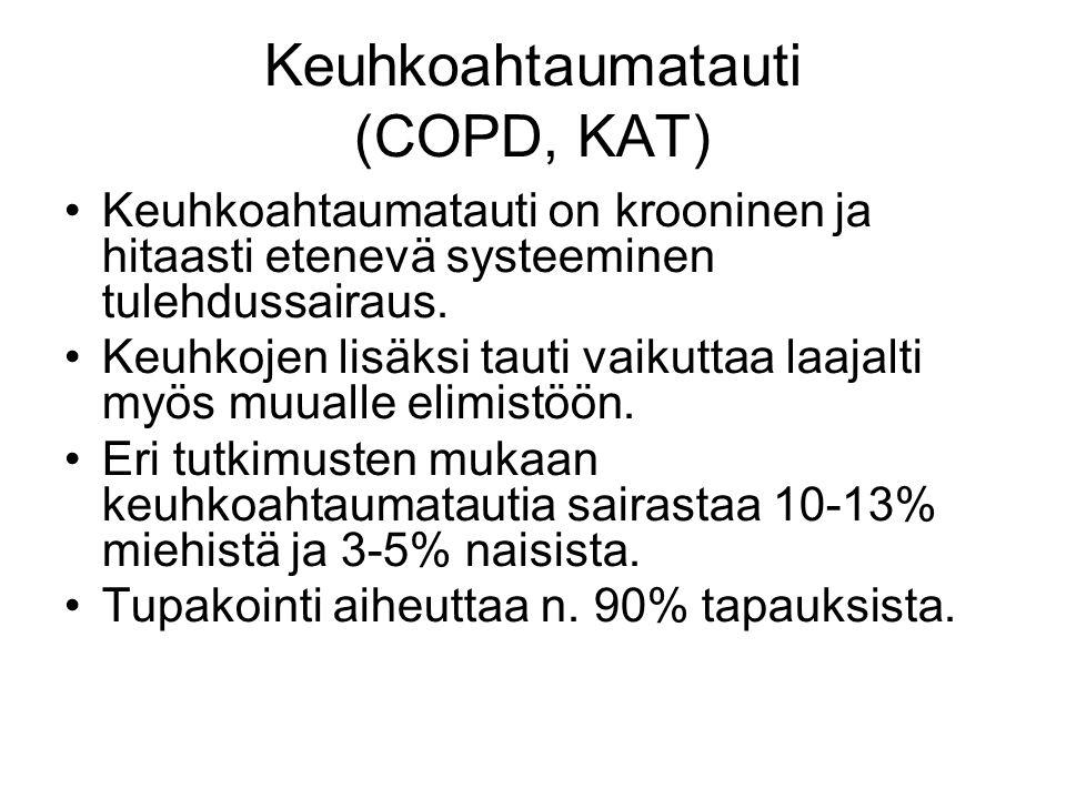 Keuhkoahtaumatauti (COPD, KAT)