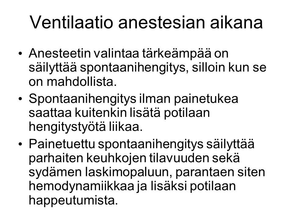 Ventilaatio anestesian aikana
