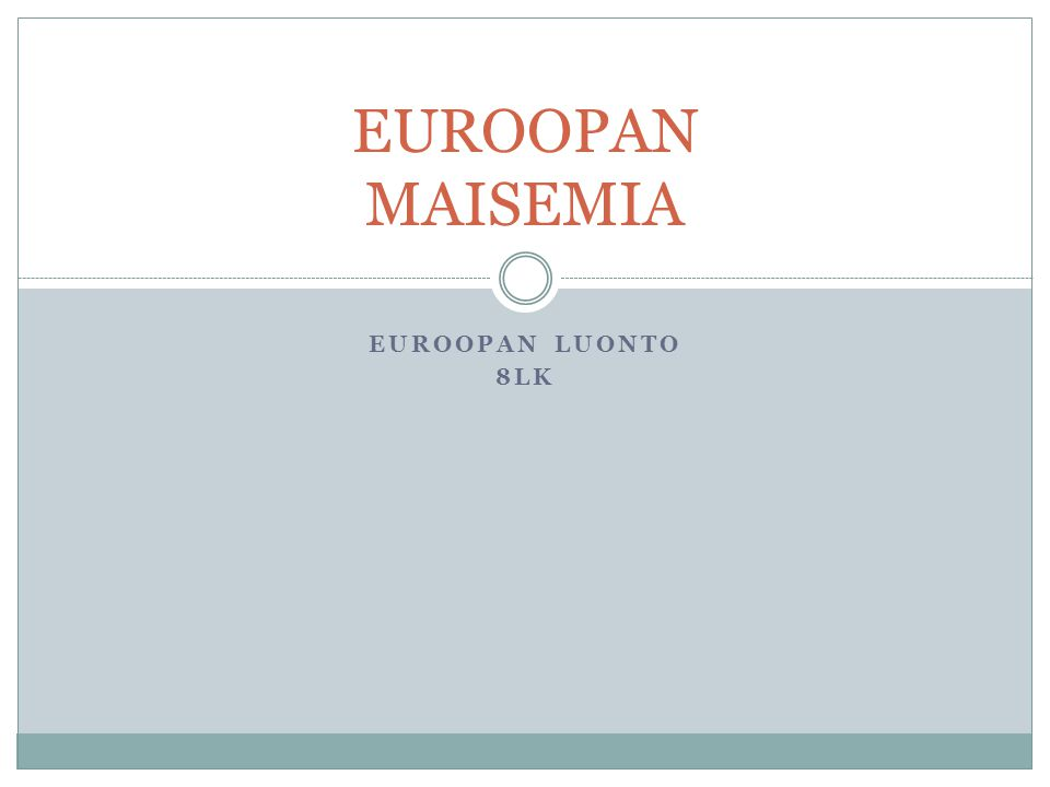 EUROOPAN MAISEMIA EUROOPAN LUONTO 8LK
