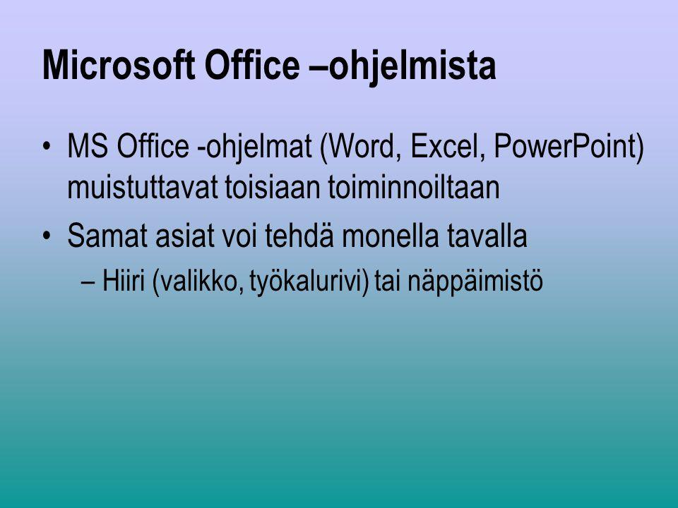 Microsoft Office –ohjelmista