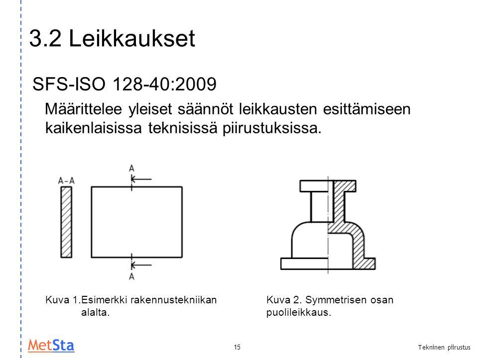 3.2 Leikkaukset SFS-ISO 128-40:2009