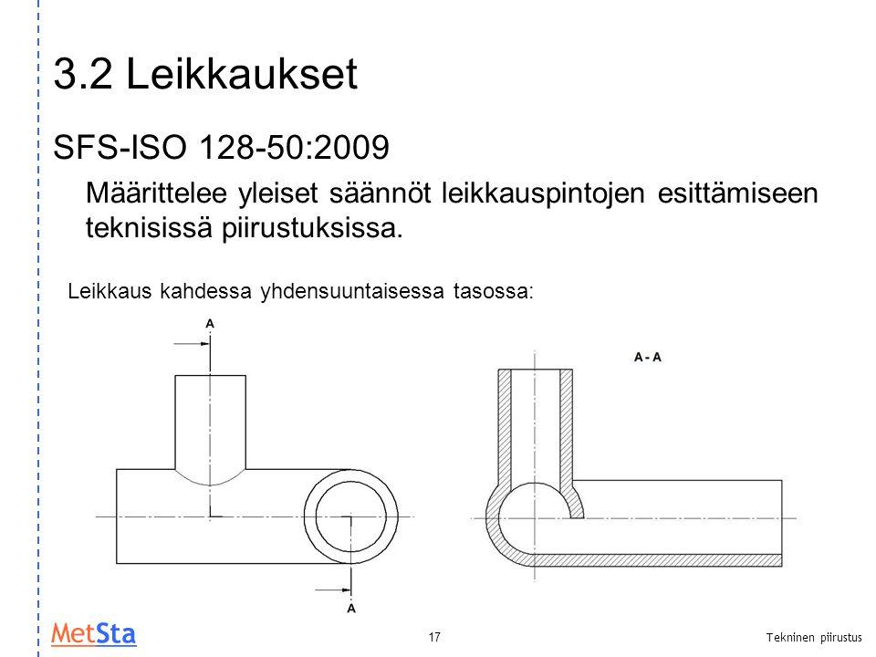 3.2 Leikkaukset SFS-ISO 128-50:2009