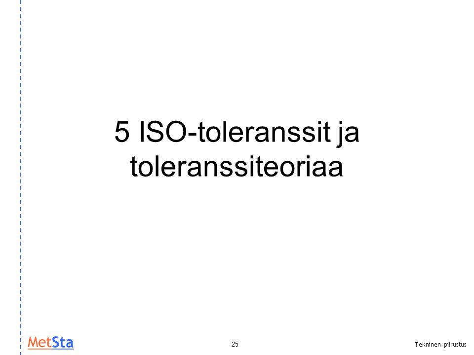 5 ISO-toleranssit ja toleranssiteoriaa