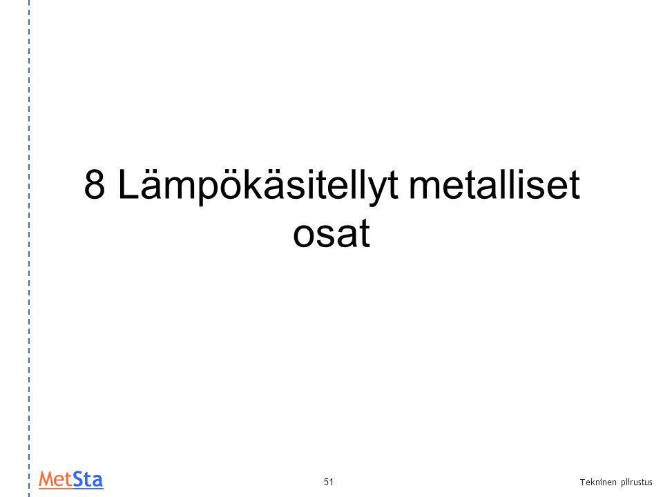 8 Lämpökäsitellyt metalliset osat