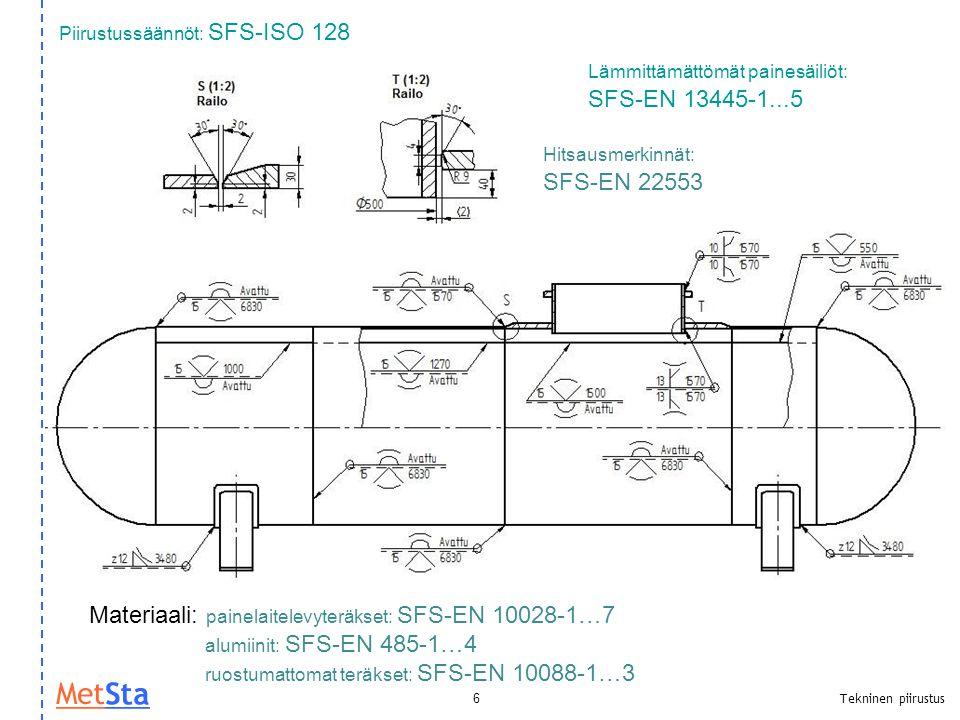 Piirustussäännöt: SFS-ISO 128