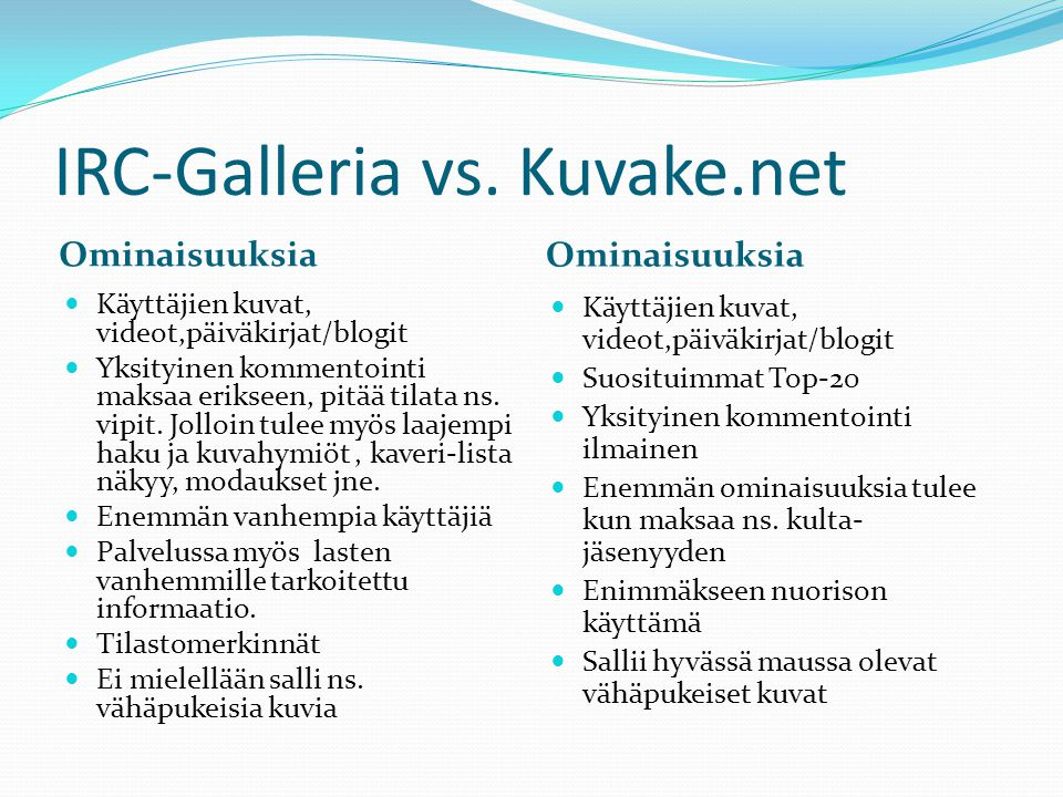 IRC-Galleria vs. Kuvake.net