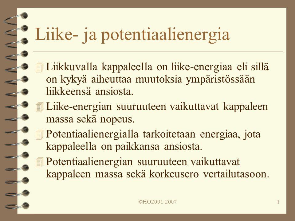 Liike- ja potentiaalienergia