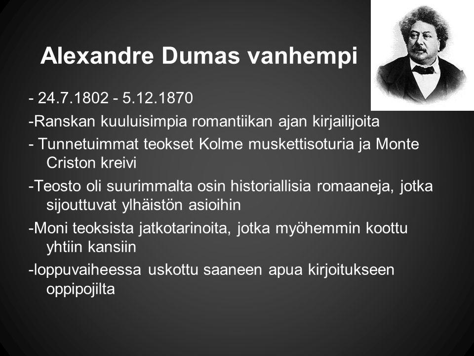 Alexandre Dumas vanhempi
