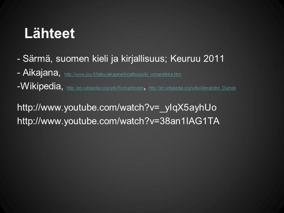 Lähteet - Särmä, suomen kieli ja kirjallisuus; Keuruu 2011