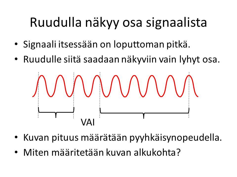 Ruudulla näkyy osa signaalista
