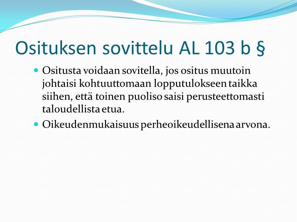 Osituksen sovittelu AL 103 b §