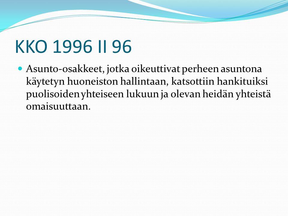 KKO 1996 II 96