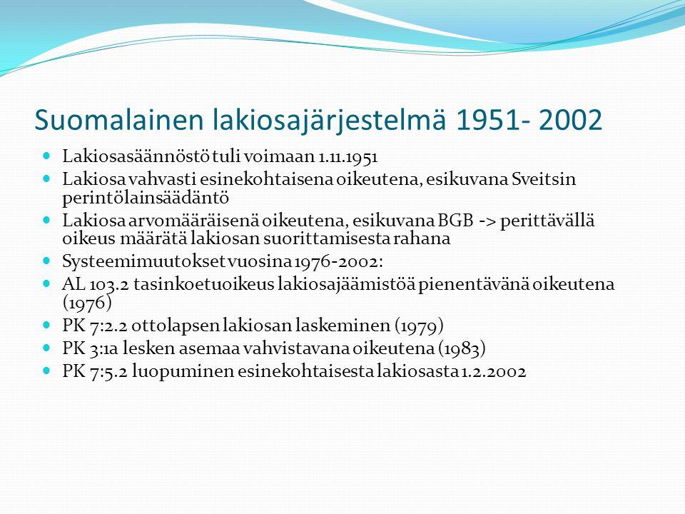 Suomalainen lakiosajärjestelmä 1951- 2002