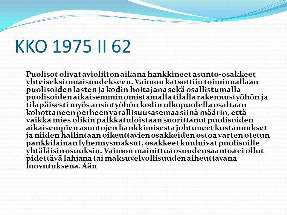 KKO 1975 II 62