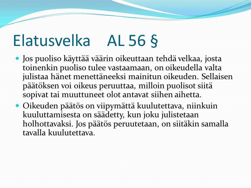 Elatusvelka AL 56 §