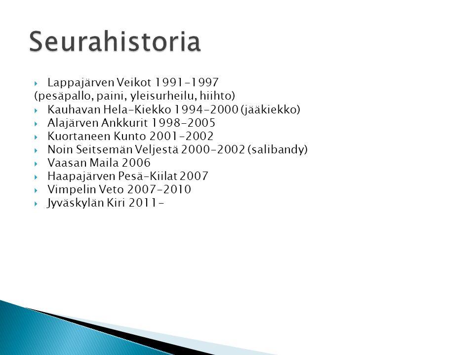 Seurahistoria Lappajärven Veikot 1991-1997
